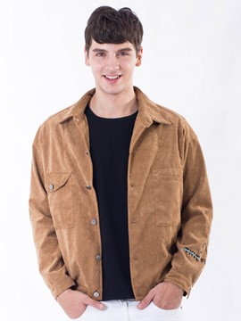 Ericdress Plain Single-Breasted Casual Men's Jacket