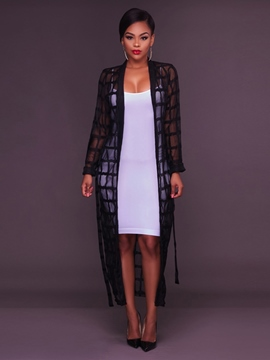 Ericdress Plaid Plain Wrapped Thin Cape