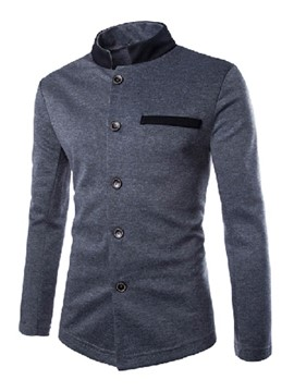 Ericdress Patched Stand Collar Thin Casual Men's Jacket