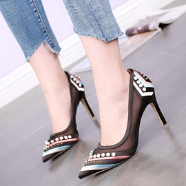 Ericdress Sexy Mesh Patchwork Point Toe Pumps