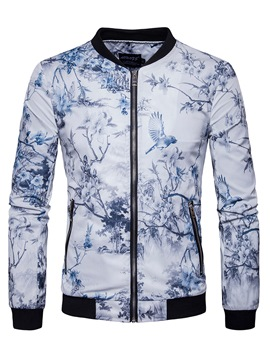 Ericdress Chinese Style Print Zip Casual Men's Jacket