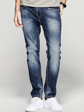 Ericdress Elastic Denim Casual Men's Pencil Jeans