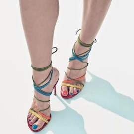 Ericdress Colorful Slim Straps Stiletto Sandals