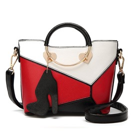 Ericdress Contrast Color Ring Design Women Handbag