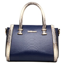 Graceful Ladylike Pillow Shape Snake Grain Handbag