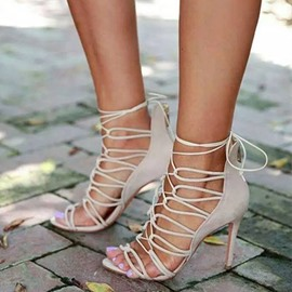 Ericdress Sexy Cut Out Cross Straps Stiletto Sandals