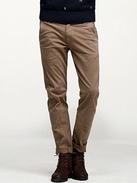 Ericdress Plain Straight Leg Vogue Men's Pants