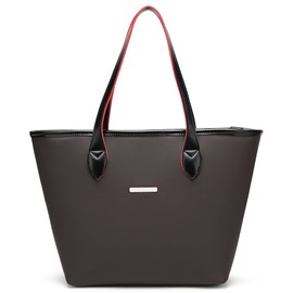 Ericdress Concise Solid Color PU Tote Bag