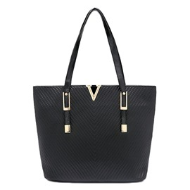 Ericdress Simple V Word Embossing Tote Bag