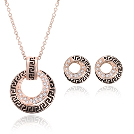 Ericdress Diamante Circle Jewelry Set for Women