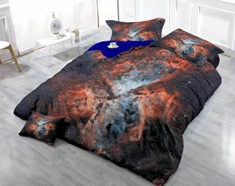 3D Colorful Cloud Cluster Printed Luxury Cotton 4-Piece Bedding Sets/Duvet Cover