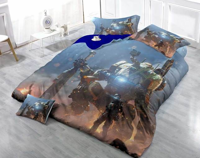 3D Huge Stone Giant Printed Luxury Cotton 4-Piece Bedding Sets/Duvet Cover