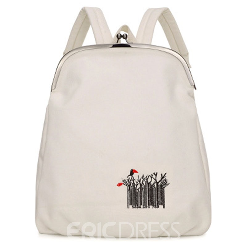 Ericdress Concise Embroidery Women Backpack