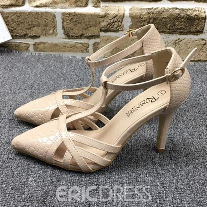 Ericdress Sexy Lady PU Point Toe Stiletto Sandals