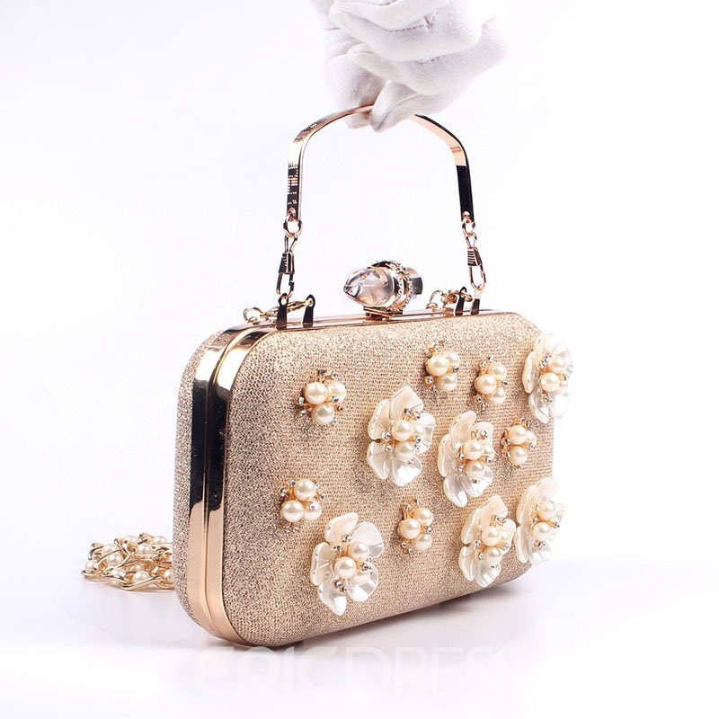 Ericdress Luxurious Pearl Floral Design Evening Clutch