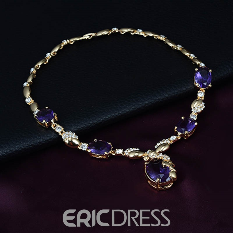 Ericdress Amethyst Four-Piece Alloy Jewelry Set for Women
