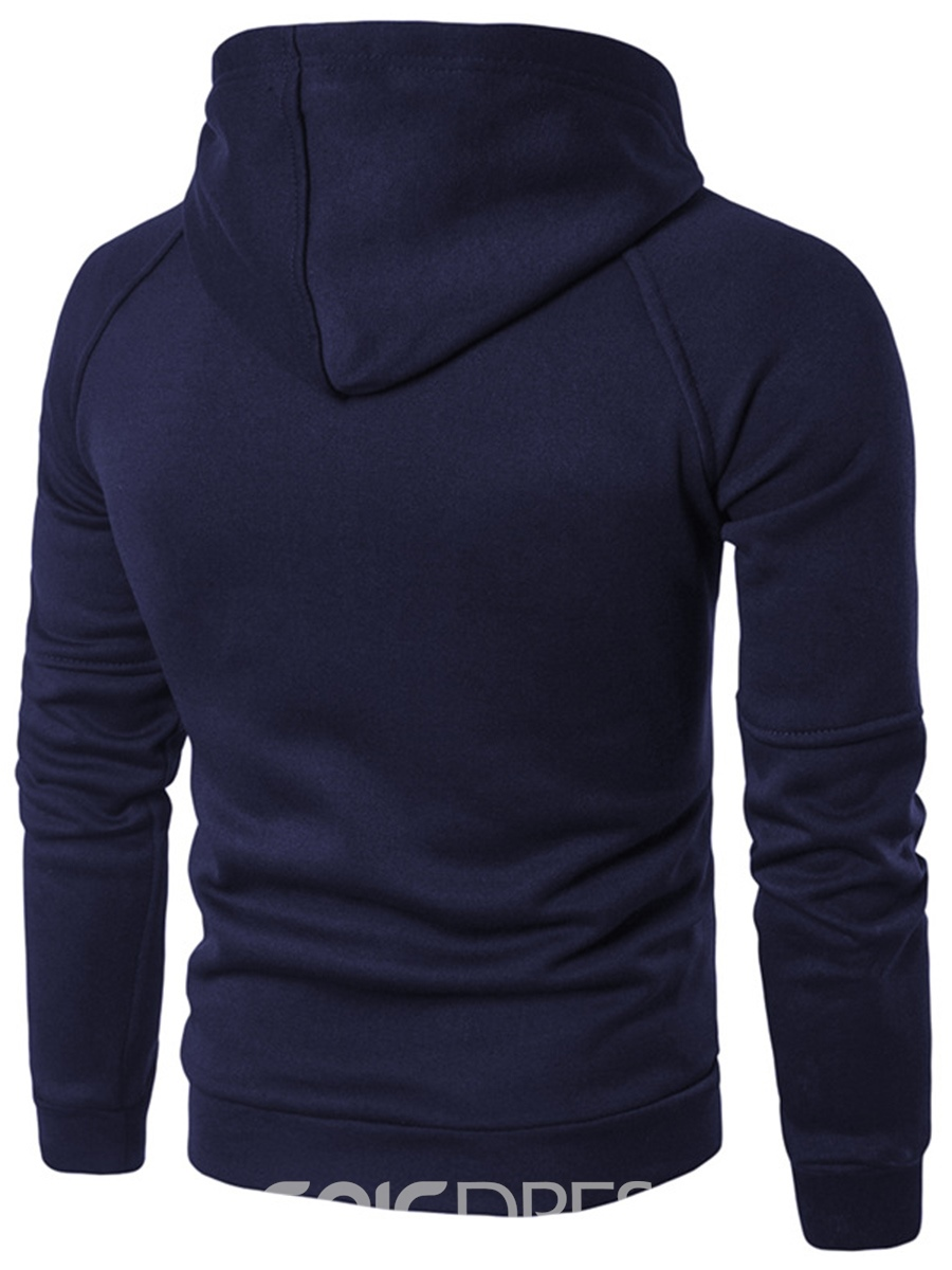 Ericdress Plain Pullover Pocket Casual Men's Hoodie