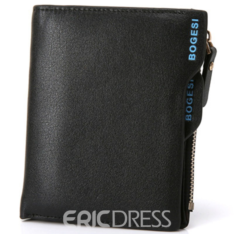 Ericdress Short Type Zipper Men's Wallet