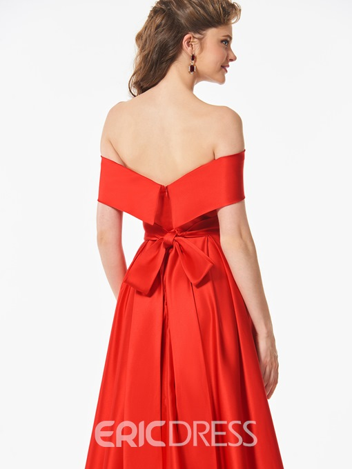 Ericdress Sashes Off The Shoulder Red Prom Dress