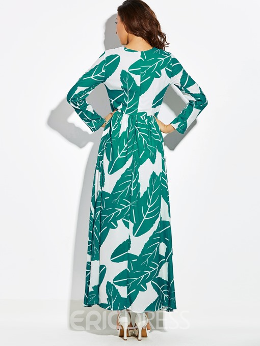 Ericdress Print Floor-Length Expansion Casual Dress