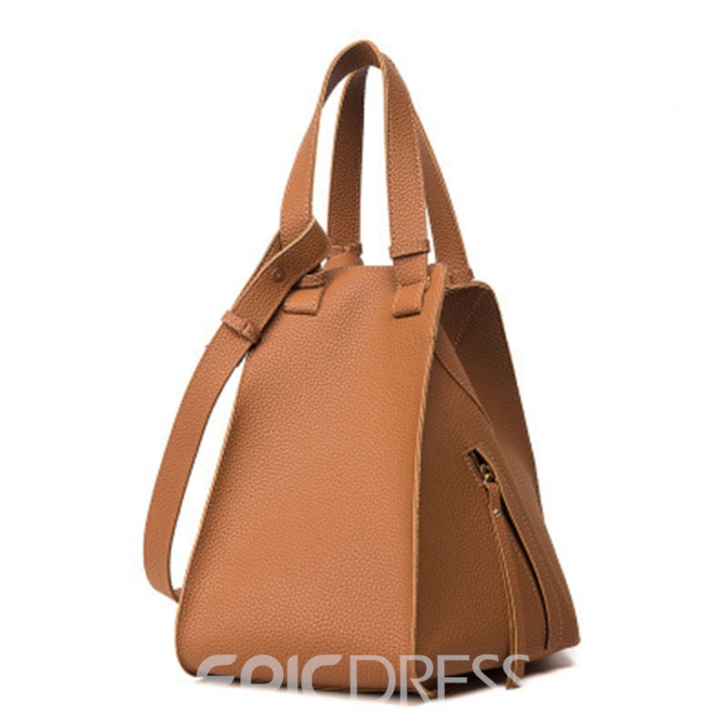 Ericdress Unique Creative Bat Shape Litchi Grain Handbag