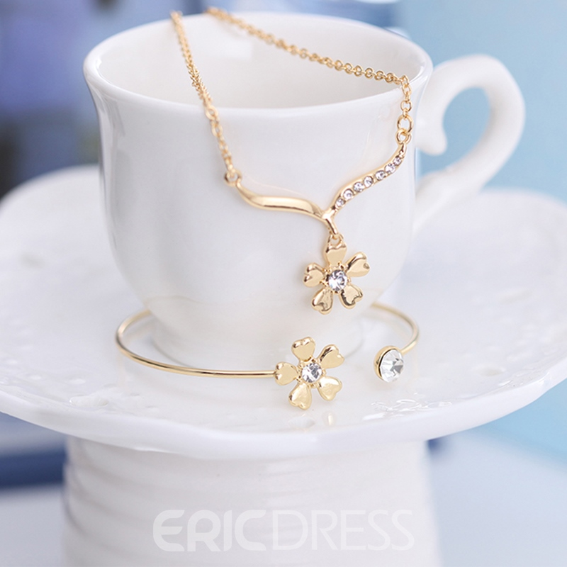 Ericdress Classic Three-Piece Jewelry Set for Women