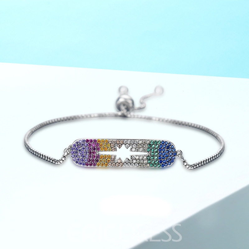 Ericdress All Match Colored Rhinestone Fashion Bracelet