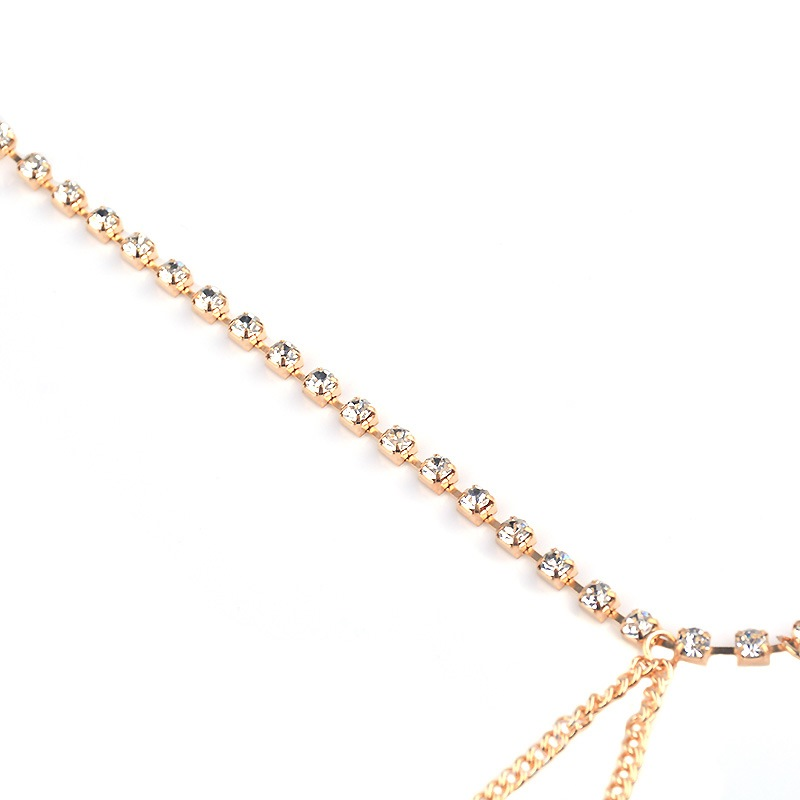 Ericdress Alluring Diamante Multilayer Anklet