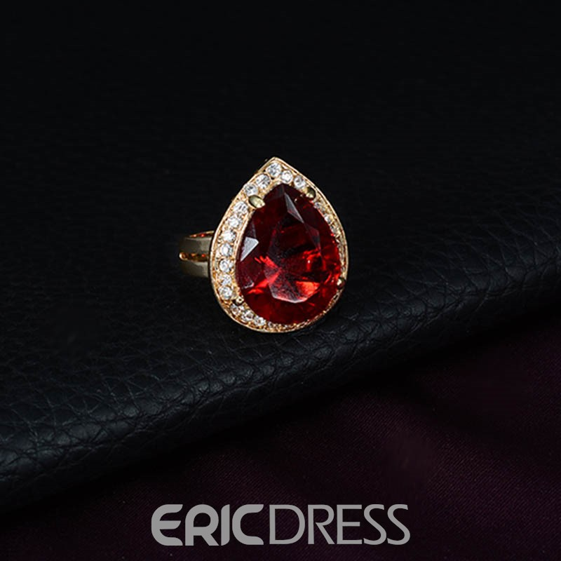 Ericdress Gemmed Geometric Ruby Jewelry Sets