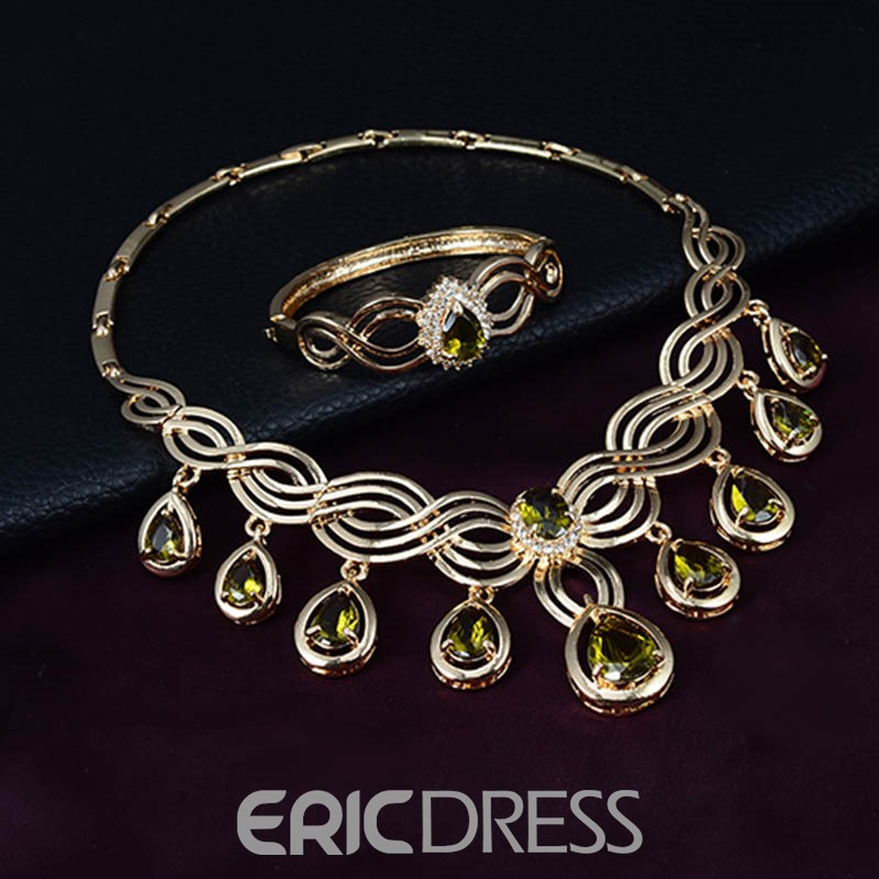 Ericdress Topaz Inlay Wedding Jewelry Set for Women