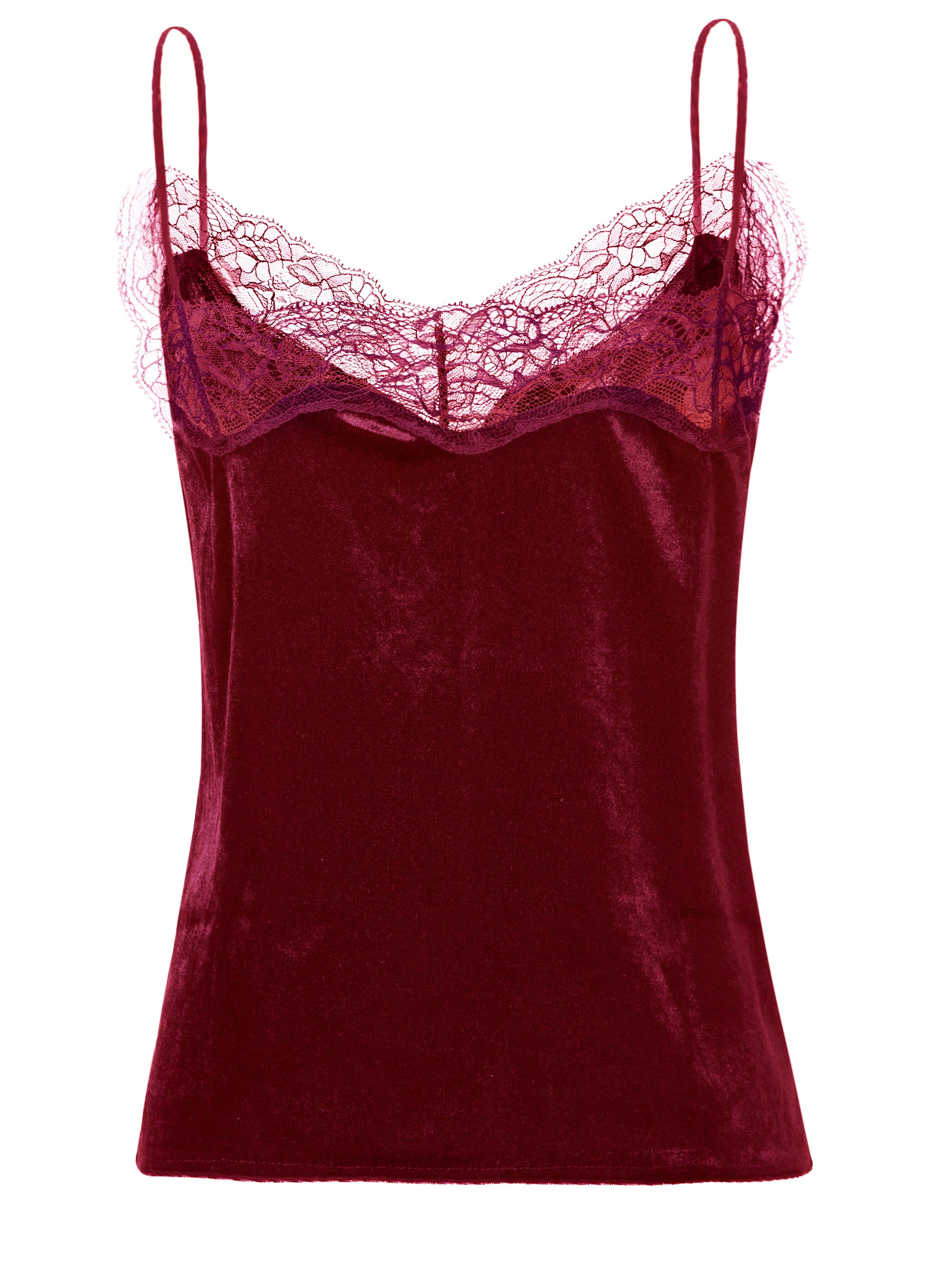 Ericdress Spaghetti Straps Lace Patchwork Tank Top