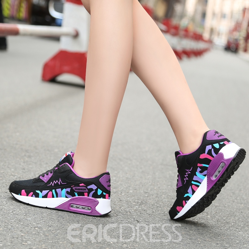 Ericdress Mesh Round Toe Lace-Up Women's Athletic Shoes