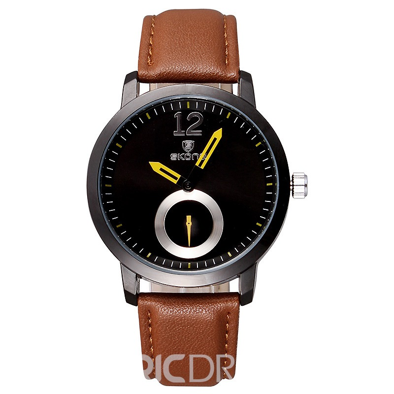 Ericdress JYY Quartz PU Watchband Men's Watch