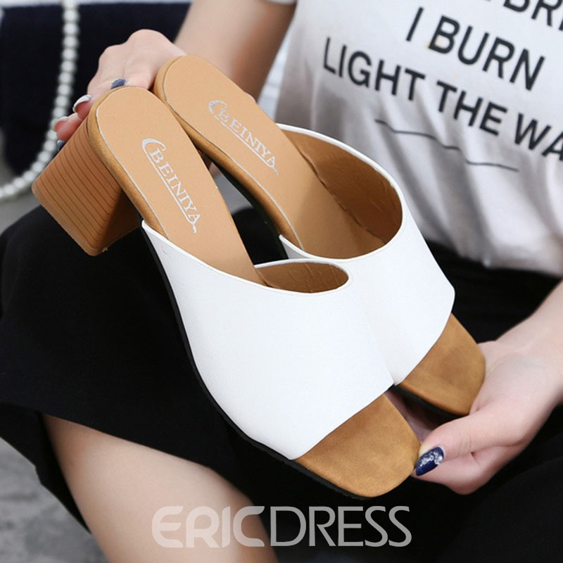 Ericdress Summer Solid Color Mules Shoes