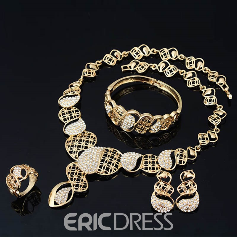 Ericdress Four-Piece Diamante Women's Jewelry Set