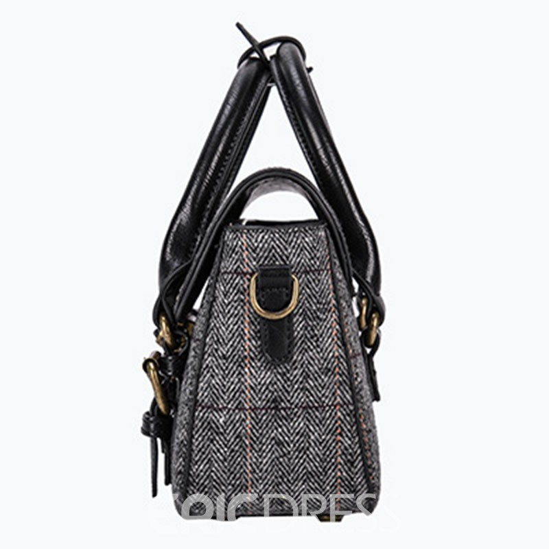 Ericdress Retro Black Rivets Design Handbag