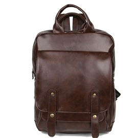 Ericdress Retro PU Leather Men's Backpack