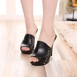 Ericdress Western Flip Flop Mules Shoes