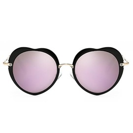 Ericdress Romantic Heart Vintage Sunglass for Women