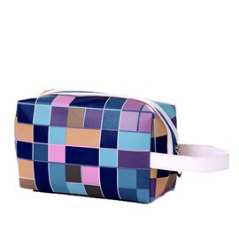 Ericdress Color Block Thread Cosmetic Bag