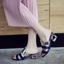 Ericdress Popular Color Block Mules Shoes