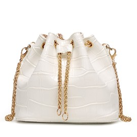 Ericdress Eimer Form Alligator Muster Mini Rucksack