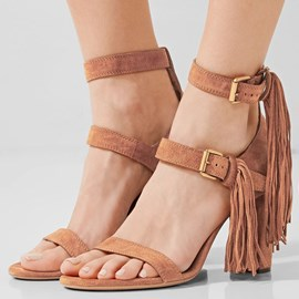 Ericdress Unique Tassels Open Toe Chunky Sandals