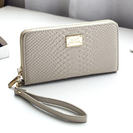 Ericdress Long Type Croco-Embossed Women Purse