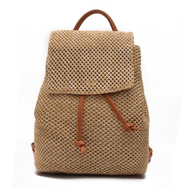 Ericdress Preppy Chic Rattan Grass Backpack
