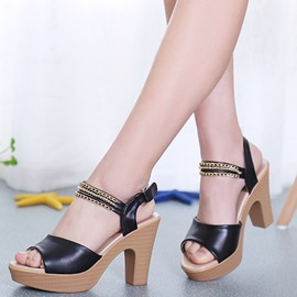 Ericdress Fashionable Ankle Strap Platform Chunky Sandals