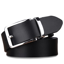 Ericdress All Match Genuine Leather Buckle Men's Belt