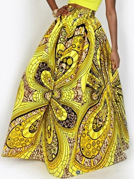 Ericdress Dashiki Floor-Length Print Skirts