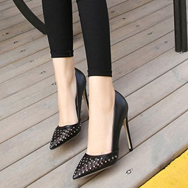 Ericdress Newest Mesh Patchwork Point Toe Pumps