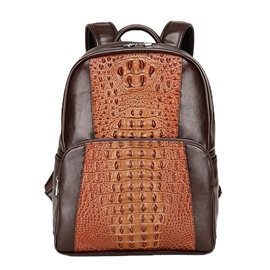 Ericdress Retro Alligator Pattern Men's Backpack